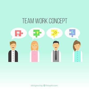 Concepto de equipo de trabajo