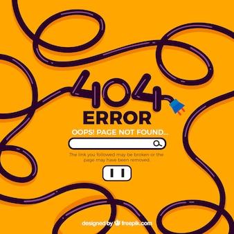 Concepto de error 404 con cable