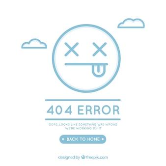 Concepto de error 404 con cara