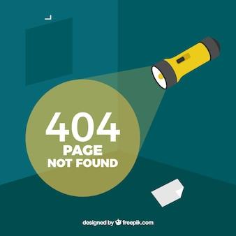 Concepto de error 404 con lámpara