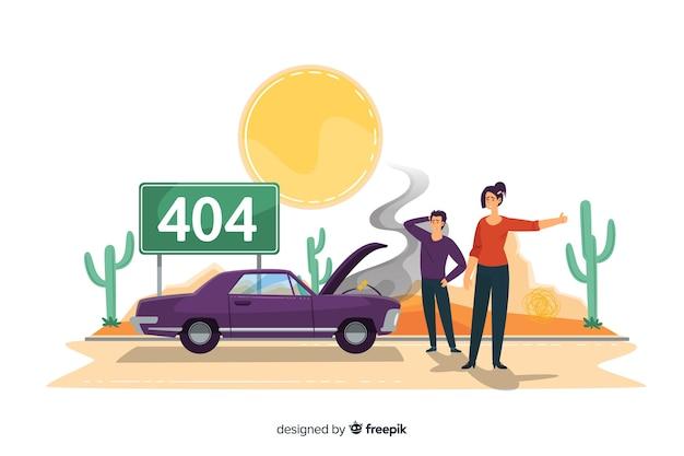 Concepto de error 404 para la página de destino