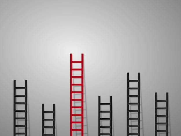 Concepto de escalera diferente