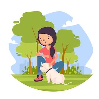 Concepto de escenas cotidianas con mascotas