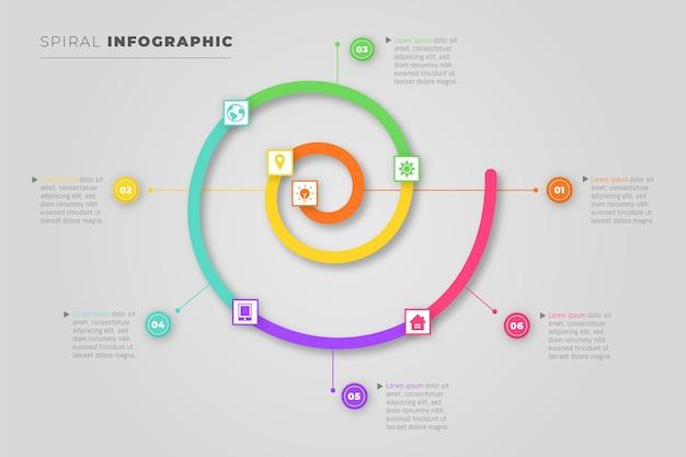 Concepto de espiral de infografía