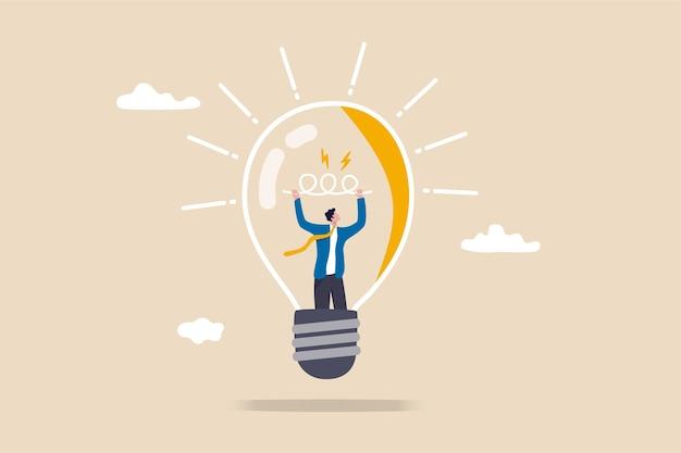 Concepto de espíritu empresarial, curiosidad y creatividad.