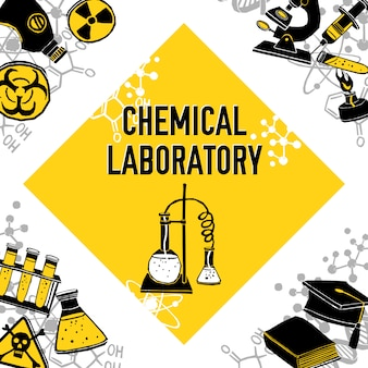 Concepto de esquina de laboratorio