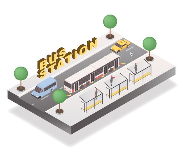 Concepto de la estación de autobuses