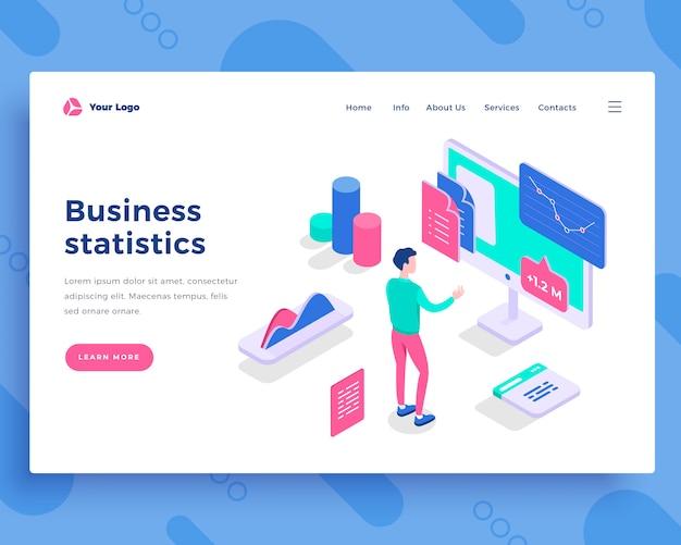 Concepto de estadísticas de negocios