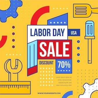 Concepto de estados unidos de venta del día del trabajo