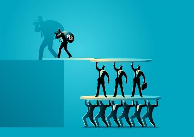 Concepto de estafa de inversión empresarial