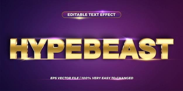 Concepto de estilo de efecto de texto editable - hype bestia palabra