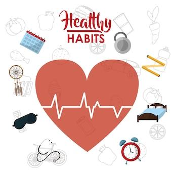 Concepto de estilo de vida hábitos saludables