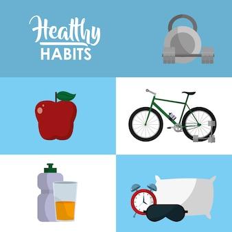 Concepto de estilo de vida saludable del deporte