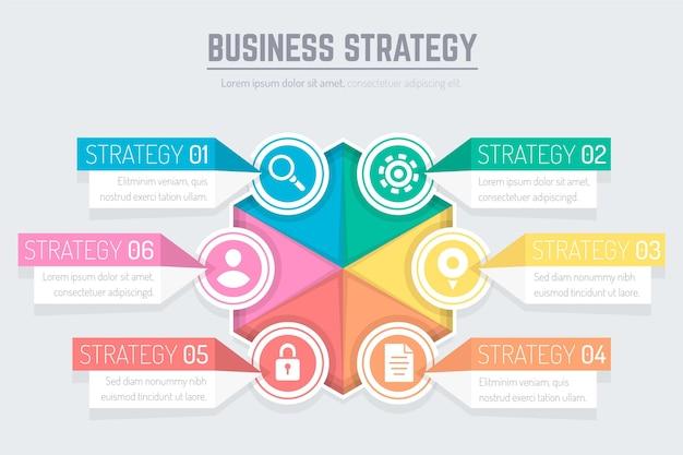 Concepto de estrategia de infografía