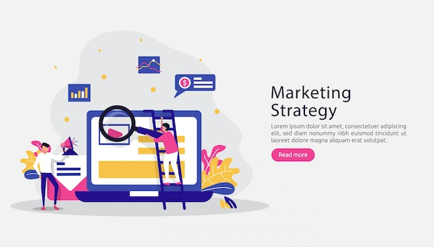 Concepto de estrategia de marketing digital de afiliados