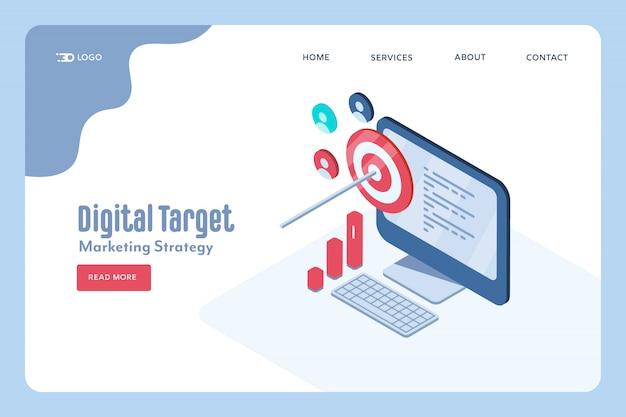 Concepto de estrategia de marketing digital