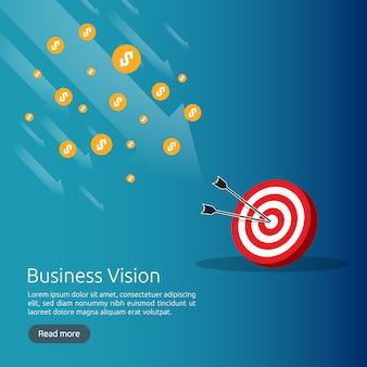 Concepto de estrategia de visión empresarial