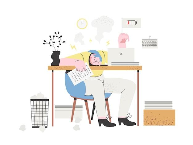 Concepto de estrés o agotamiento profesional.