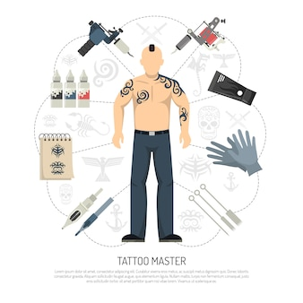 Concepto de estudio de tatuaje