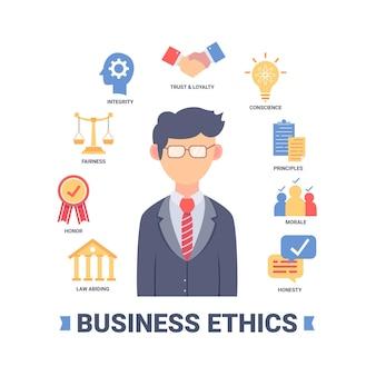 Concepto de ética empresarial ilustrado