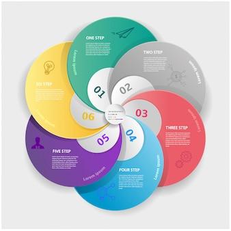 Concepto de etiqueta de negocio moderno abstracto para infografía.