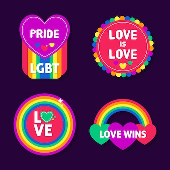 Concepto de etiquetas del día del orgullo