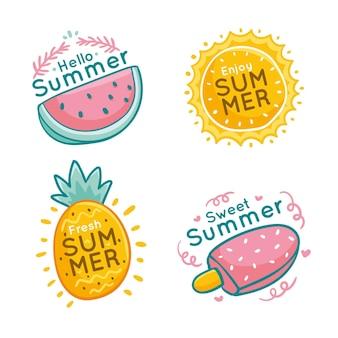 Concepto de etiquetas de verano