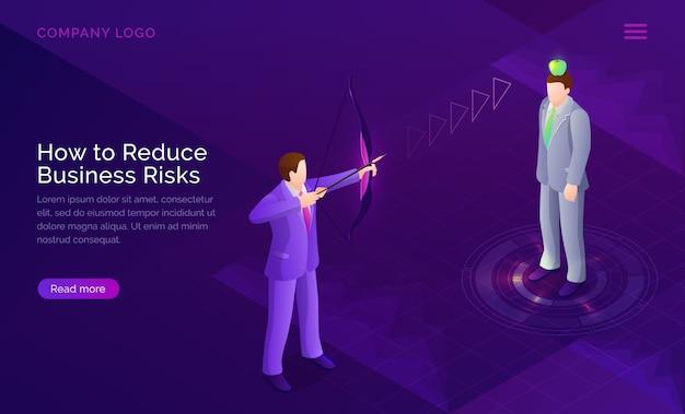 Concepto de evaluación del proyecto de reducción de riesgos empresariales