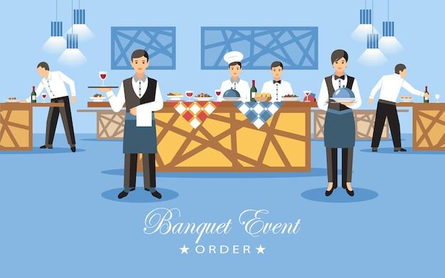 Concepto de evento de banquete.