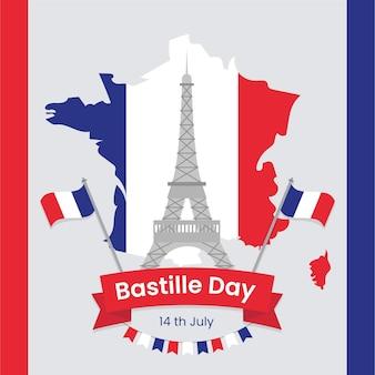 Concepto de evento del día de la bastilla