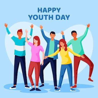 Concepto de evento del día de la juventud