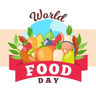 Concepto de evento del día mundial de la alimentación
