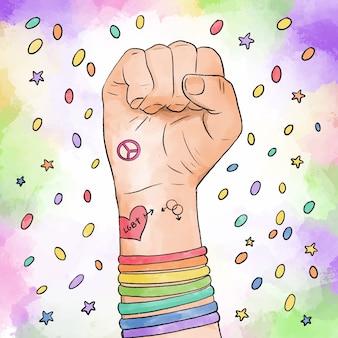 Concepto de evento del día del orgullo