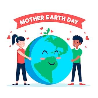 Concepto de evento internacional del día de la madre tierra