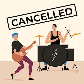Concepto de eventos musicales cancelados