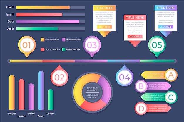 Concepto de evolución de infografía gradiente