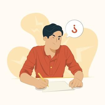 Concepto de exámenes aislado en blanco