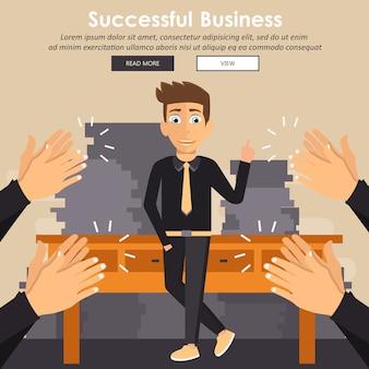 Concepto de éxito empresarial y financiero
