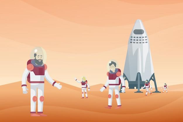 Concepto de exploración espacial colorido