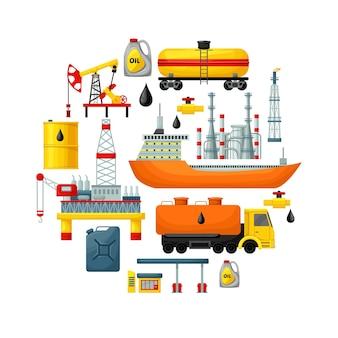 Concepto de extracción de aceite