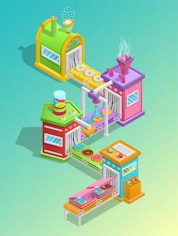 Concepto de fábrica de confitería