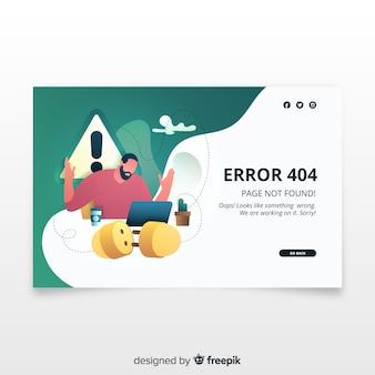 Concepto de fallo técnico para landing page