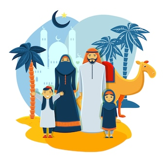 Concepto de familia musulmana