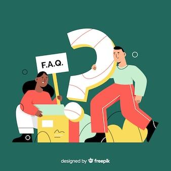 Concepto de faq