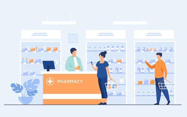 Concepto de farmacia o tienda médica.