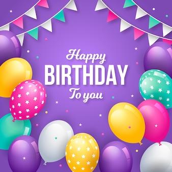 Concepto de feliz cumpleaños con globos