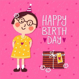 Concepto de feliz cumpleaños para niños