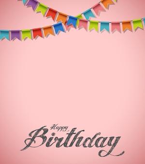 Concepto feliz cumpleaños rosa