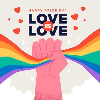 Concepto de feliz día del orgullo
