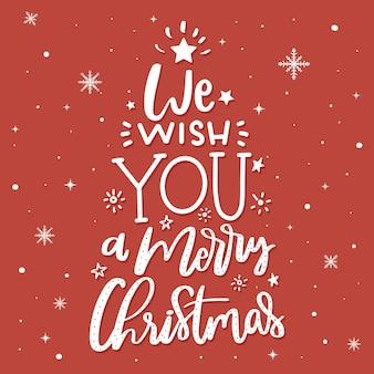 Concepto de feliz navidad con letras